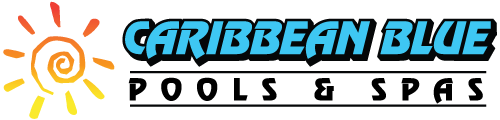 CARIBBEAN BLUE POOL AND SPAS Retina Logo